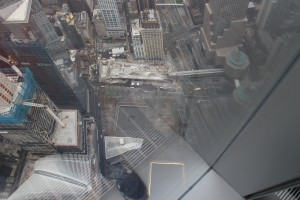 A little blurry but the pools where the original World Trade Center Stood...