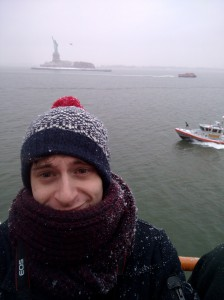 Selfie with the Statue of Liberty.