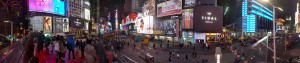 ... and a Panorama of Times Square at night!