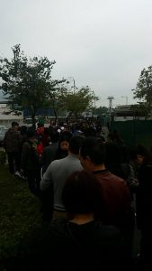 Not even half the queue!