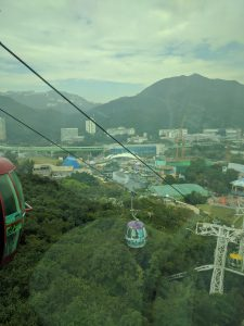 View of Hong Kong from the Cable Car