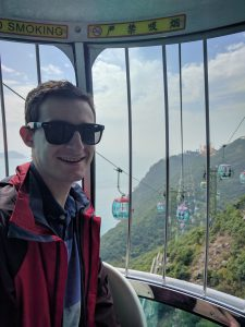 Me, Happy as Larry on the Cable car!
