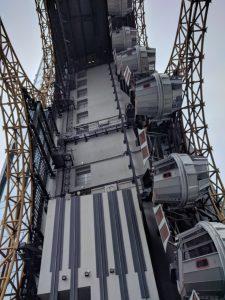 Figure of 8 Ferris Wheel from beneath! (beneath being the 23rd floor!)