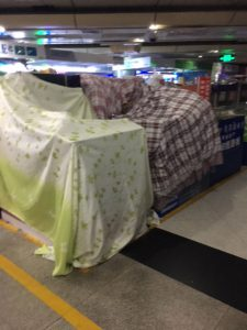 Just going to shut up shop of my electrical goods by wrapping a blanket over them!