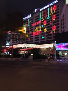 The Hotel opposite decorated for CNY